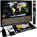 Cnsunway Lighting Scratch Off World and USA Map