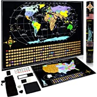 Cnsunway Lighting Scratch Off World and USA Map
