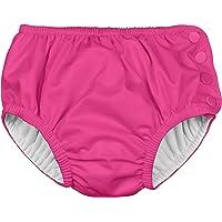 i play. Snap Reusable Absorbent Swimsuit Diaper, Hot Pink, Large (12-18mo)