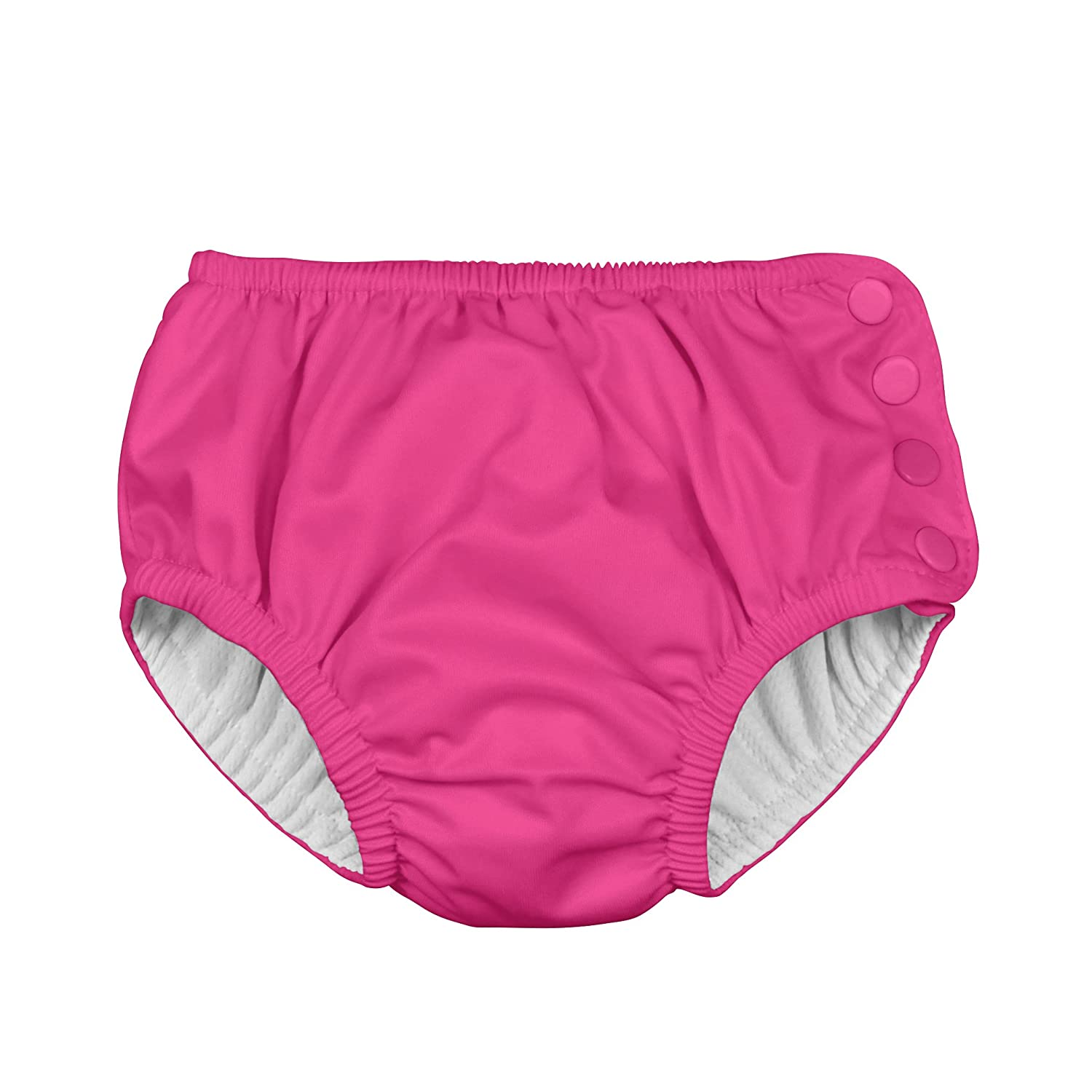 i play. Baby Snap Reusable Absorbent Swim Diaper, Hot Pink, 12-18 months i play Children's Apparel 711200