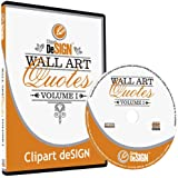 Wall Art Decal Quotes Clipart-Vinyl Cutter Plotter Images-Vector Clip Art Graphics CD