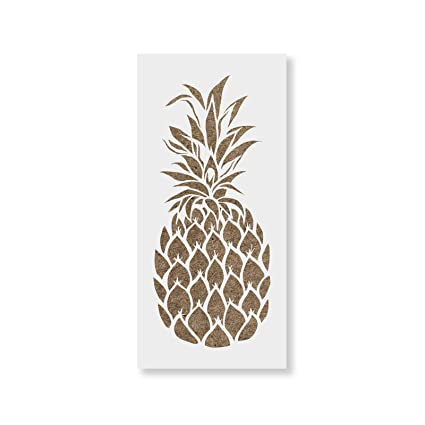 amazon com pineapple stencil template for walls and crafts
