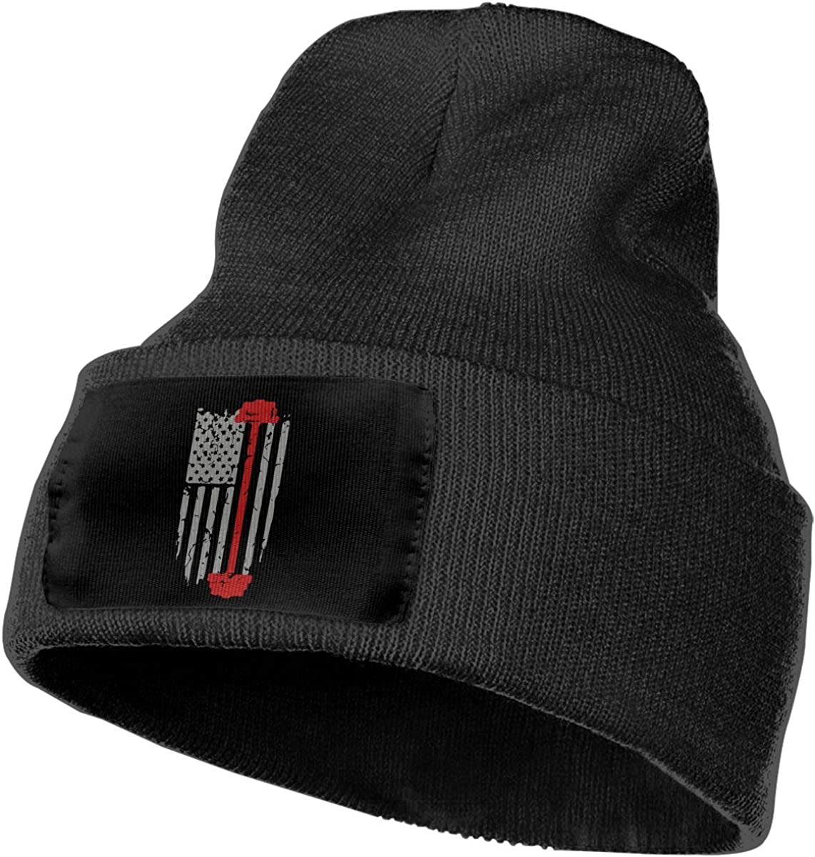COLLJL-8 Unisex Weight Lifting Flag Outdoor Stretch Knit Beanies Hat Soft Winter Knit Caps