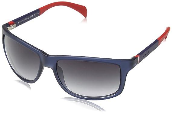 5e44f07382 Tommy Hilfiger 4NK TH 1257/S JJ Gafas de sol, Ovaladas, 59, Blue Red ...