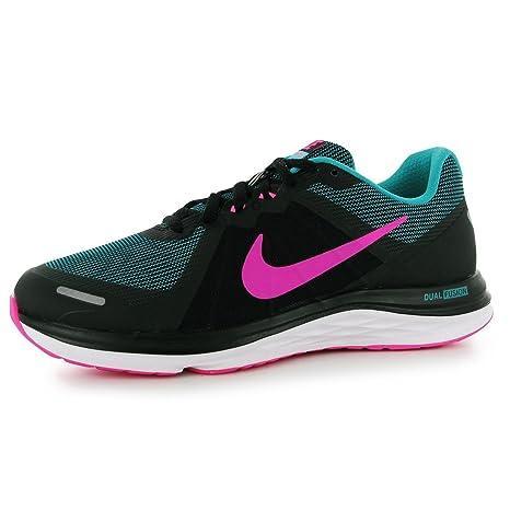 Nike Dual Fusion 2 Scarpe da Corsa – Nero Rosa Verde Run Scarpe Sneakers 9fa82f6018338