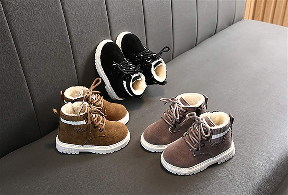 Toddler Kids Boys Girls Hiking Boots Waterproof Synthetic Leather Non Slip Martin Ankle Outdoor Boots Shoes Toddler//Little Kids