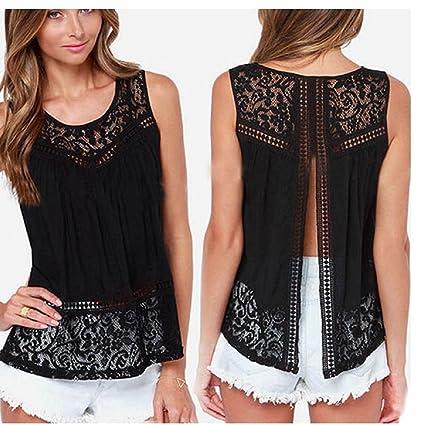 Tops Mujer, Amlaiworld Camiseta de verano del cordón del ganchillo de la blusa sin mangas