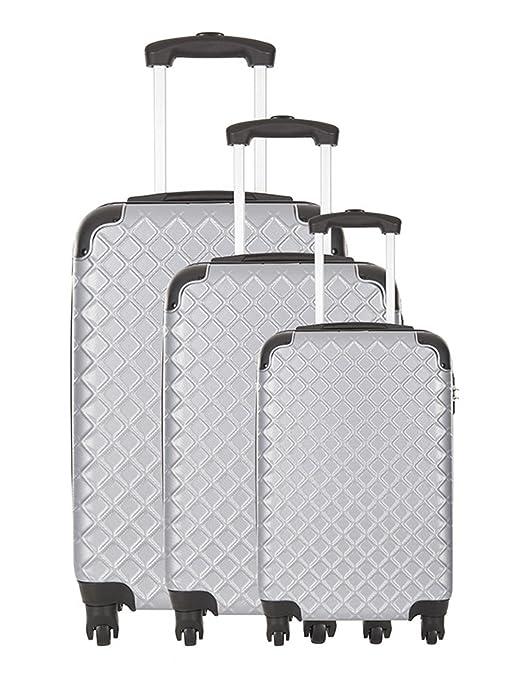 Platinium Juego de maletas plata plata 77.00: Amazon.es ...