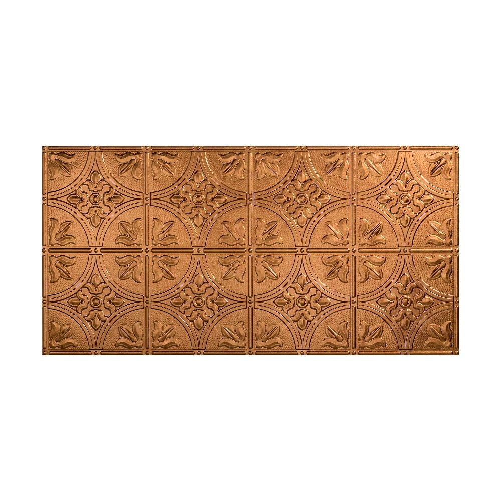 Fasade Easy Installation Traditional 2 Antique Bronze Glue Up Ceiling Tile/Ceiling Panel (2' x 4' Panel) by Fasade