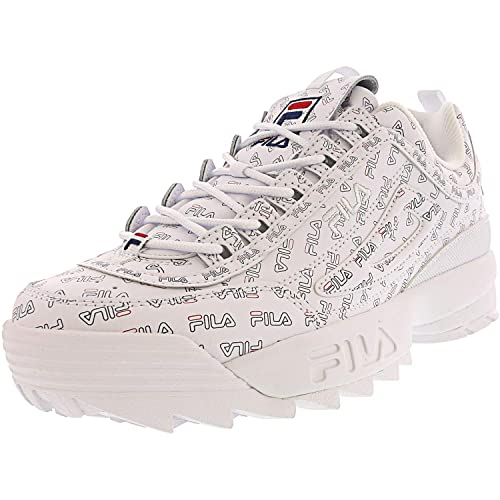 Fila Women's Disruptor II Sneaker (5, WhiteNavyRed)
