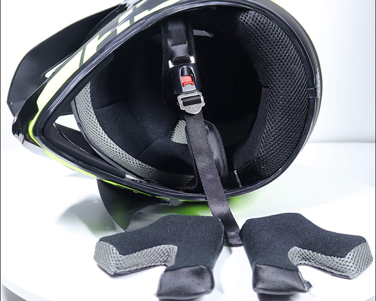 Adult Verhindern Kollisio Motocross Helm MTB Motorradhelm f/ür Damen Herren 5 St/ück Gnohnay Motorrad Crosshelm mit Brille