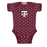 Baby Girl Texas A&M University Aggies Heart Creeper Newborn