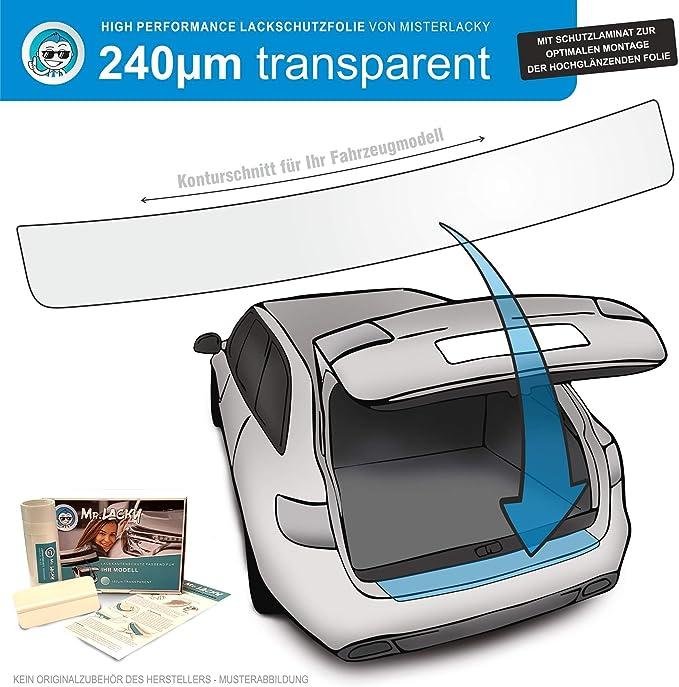Misterlacky Lackschutzfolie Mit Rakel Als Ladekantenschutz Folie Passend Für Hyundai Veloster Ab Bj 2011 2018 In Transparent 240µm Auto