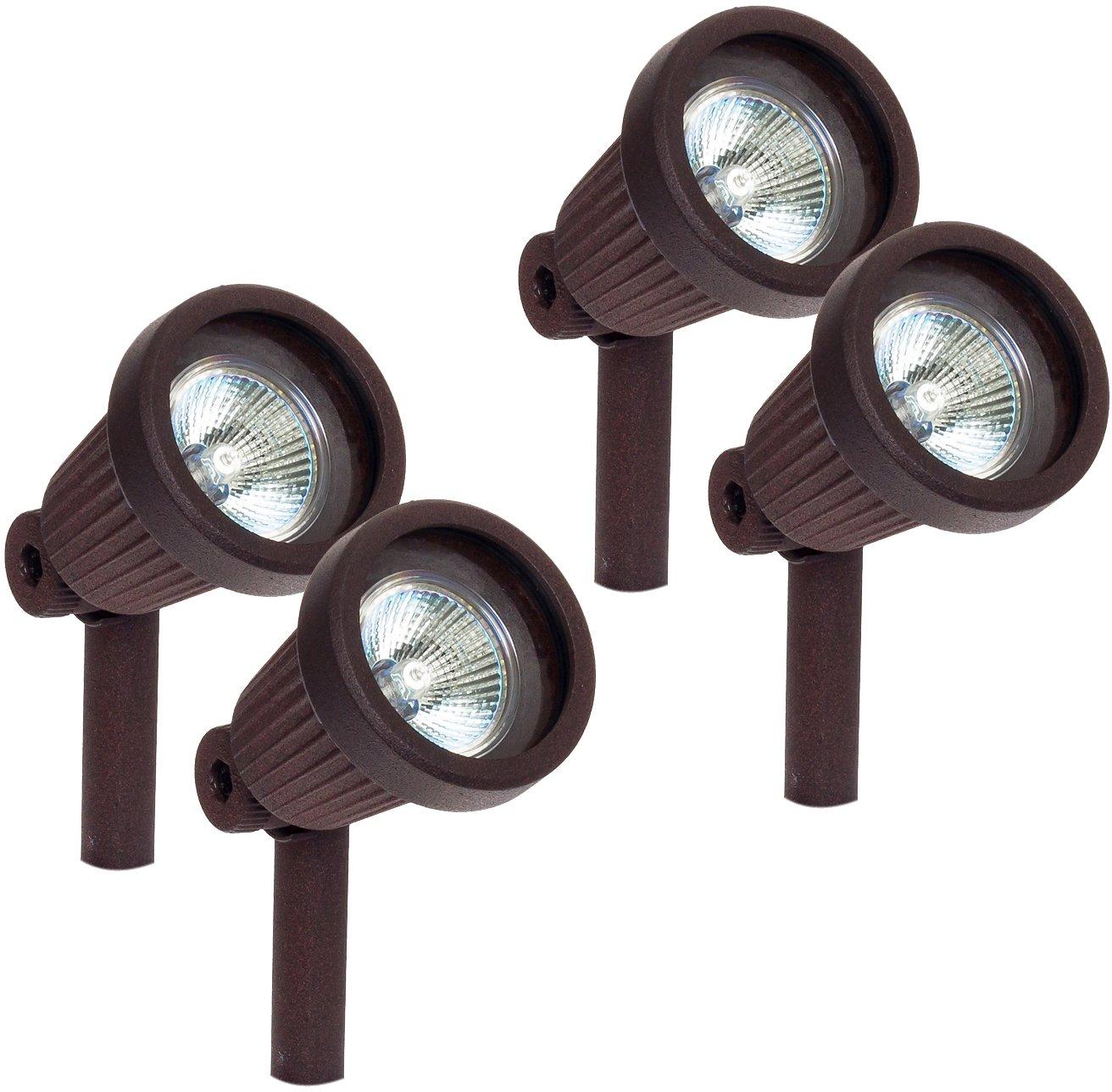 Paradise GL22724 Low Voltage Cast Aluminum 20W Spotlight (Bronze, 4 Pack)
