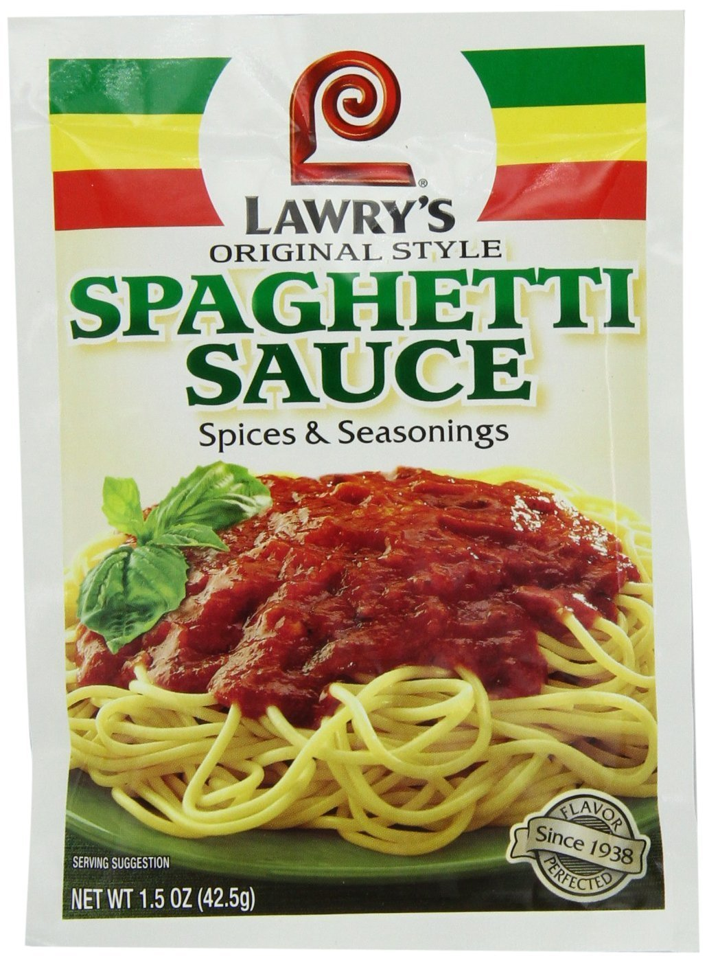 Lawry's Spaghetti Sauce Spice & Seasonings, Original Style, 1.5-Ounce Packets (5 Pack)