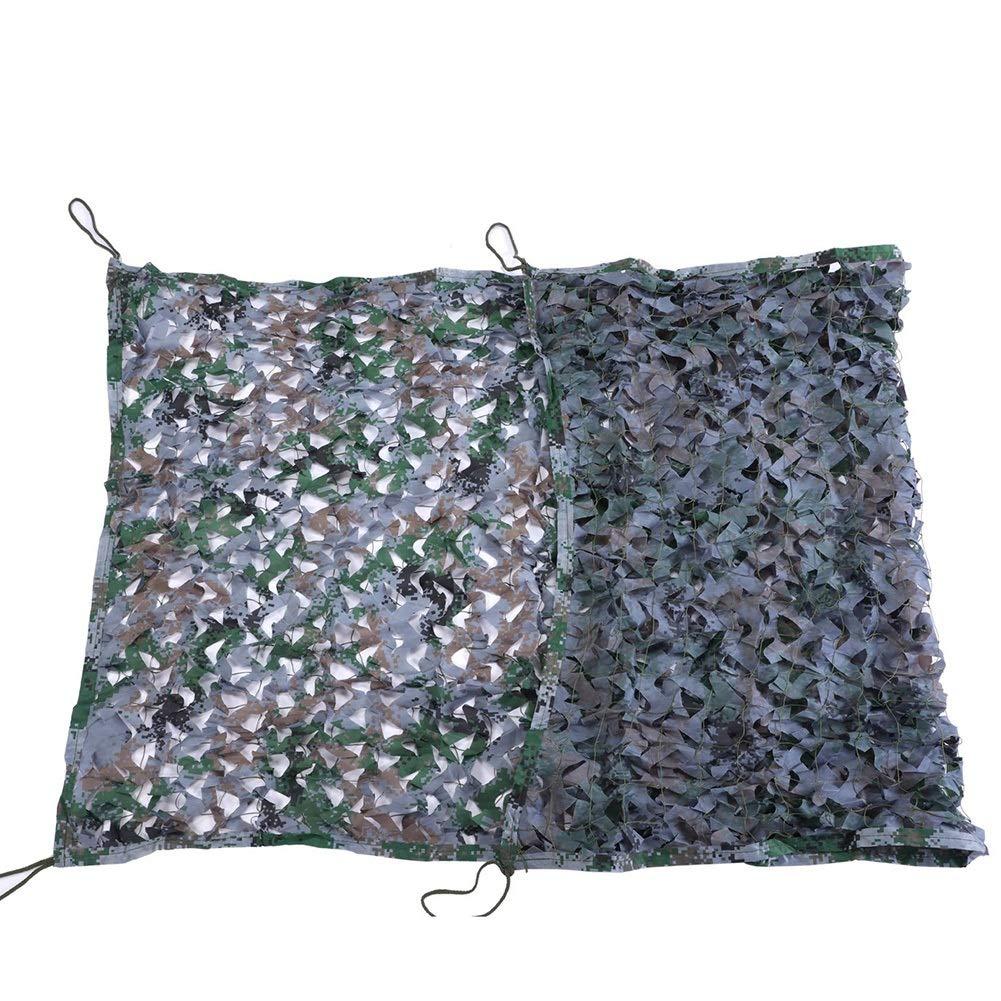 12x12m QIANGDA Filet pour Parasol Camouflage Ombre Filet Solaire Auvent De Jardin BÂche pour Décoration Murale Couverture D'usine De Voiture, Plusieurs Tailles (Taille   4x5m)