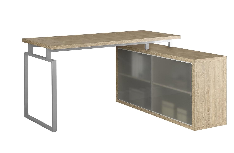 monarch ip desk silver computer en white specialties walmart l corner canada whitesilver