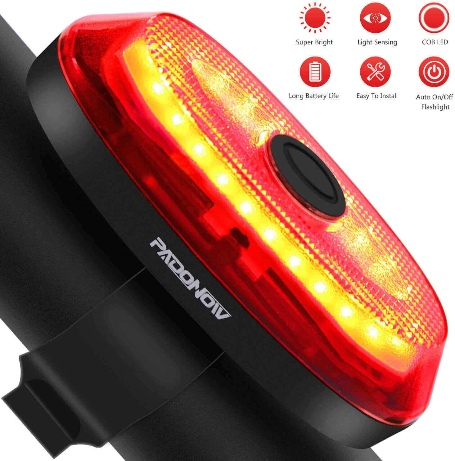 USB Rechargeable Bike Rear Light Tail Lamp LED Bicycle Warning Safe Waterproof R
