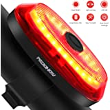 Padonow Smart Bike Tail Light: Ultra Bright Auto On/Off Flashing Lights Easy Mount Cycling Safety Warning Taillight High Lumen Red Led Flashlight USB Rechargeable Light Sensing Bicycle Rear Light