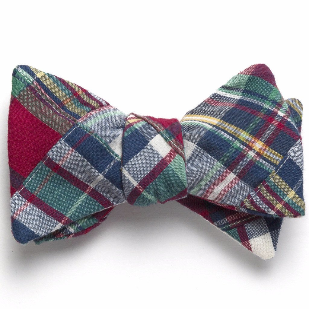 Block Island Patchwork Madras Bow Tie