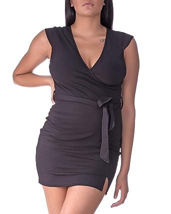 c051b14c4f Runway Robe Sexy Pullover Style Mini Dress Gown - Slimming Lightweight  Cotton Nightdress - Cap Sleeve