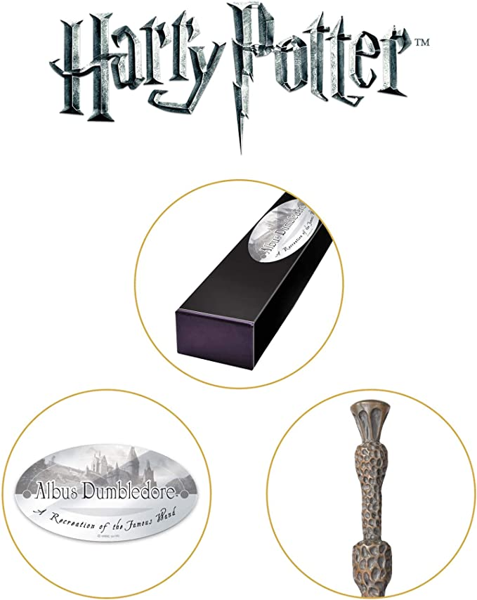 The Noble Collection Proffesor Albert Dumbledore Varita de Personaje