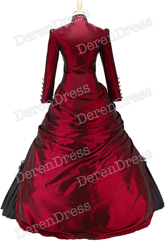 Luxury Classic Klassiker Fabulous Lolita Turtle Neck Button Dress Red