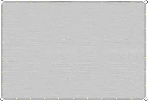 TANG Sunshades Depot 10'x32' Straight Side Sun Shade Sail 180 GSM Light Grey Patio Rectangle Shade Fabric UV Blocker Shelter Deck Dock Carport Driveway Pergola Cover Backyard Deck 3 Year Warranty