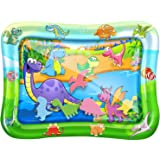 Tummy Time Baby Water Play Mat – Inflatable Infant Toy Mat for Infant, Baby, Toddler, Boy and Girl, Fun Activity Center…