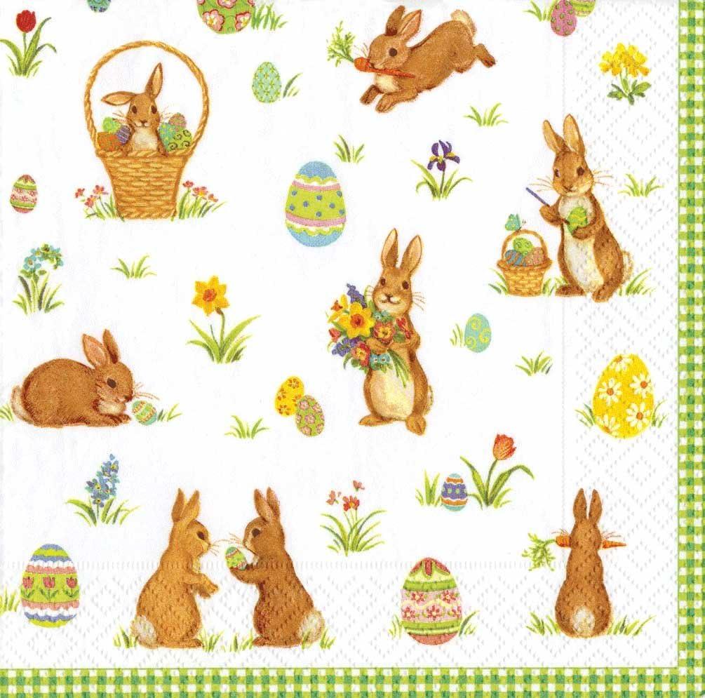 Party Supplies 20-Pack Caspari Easter Bunny Rabbit Napkins