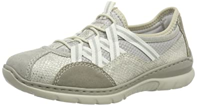 Womens L3251 Low-Top Sneakers, Grau (Grau Kombi 40), 4 UK Rieker