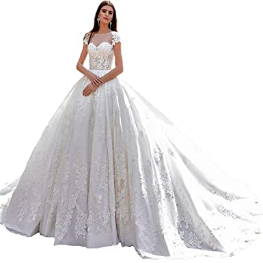 50375d06d4285 Yuxin Luxury Vintage Ball Gown Wedding Dresses for Bride Lace ...