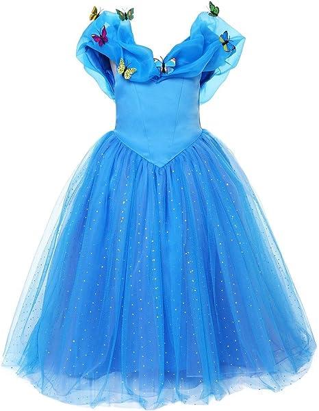 ELSA & ANNA® Princesa Disfraz Traje Parte Las Niñas Vestido (Girls ...