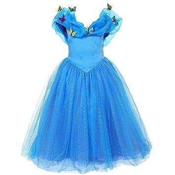 ELSA & ANNA® Princesa Disfraz Traje Parte Las Niñas Vestido (Girls Princess Fancy Dress) ES-FBA-CNDR4 (3-4 Años, ES-CNDR4)
