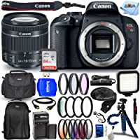 Canon EOS Rebel T7i DSLR Camera with 3-Inch LCD, Black (1894C002) - Ultimate Bundle Includes: Extra Battery and Charger…