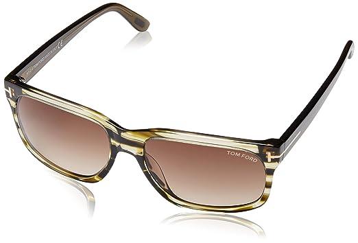 77aa8c0b868a9 Tom Ford Barbara Women s TF376 TF 376 98K Olive Stripe Fashion Sunglasses  58mm