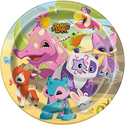"Animal Jam Party Dinner Paper Plates, 9"", 8 Ct.: Toys & Games"