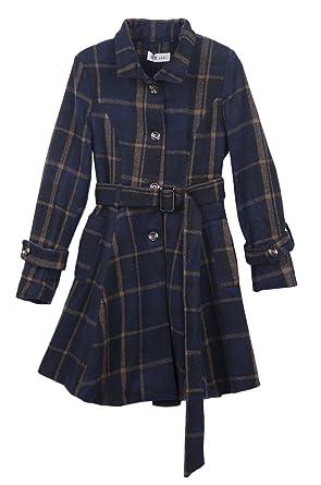 free shipping f0c4a d7fb9 La Vogue-Cappotto a Quadri Lungo da Donna Busto 87cm Modello ...