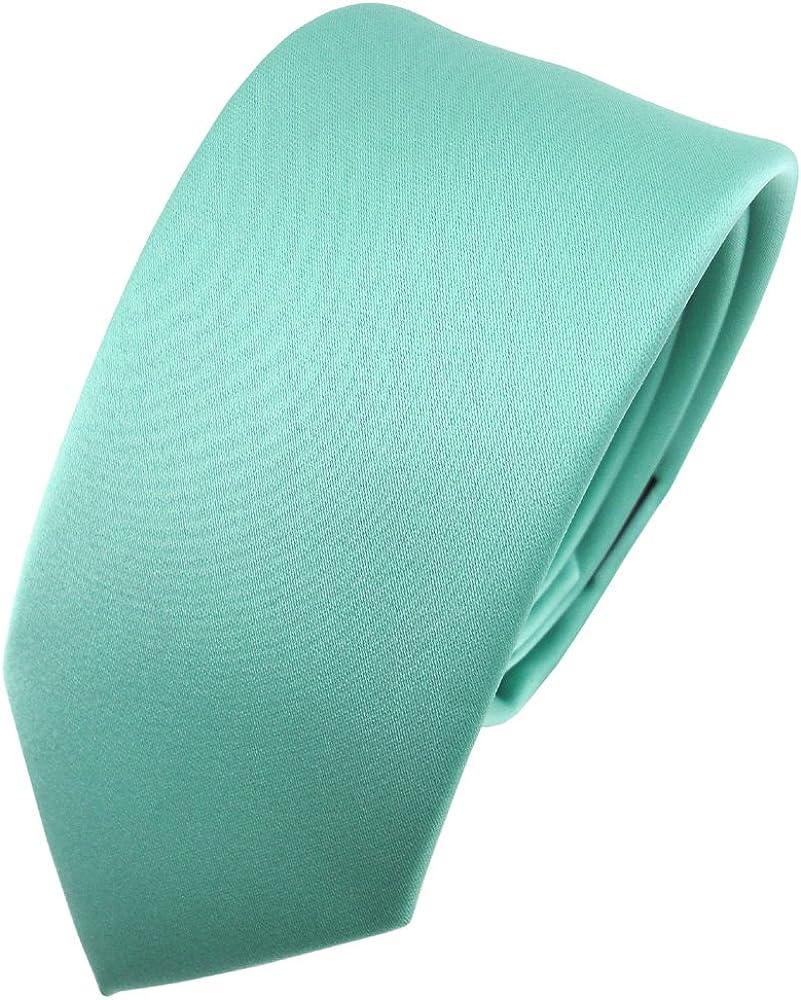 TigerTie - corbata estrecha - verde menta monocromo: Amazon.es ...