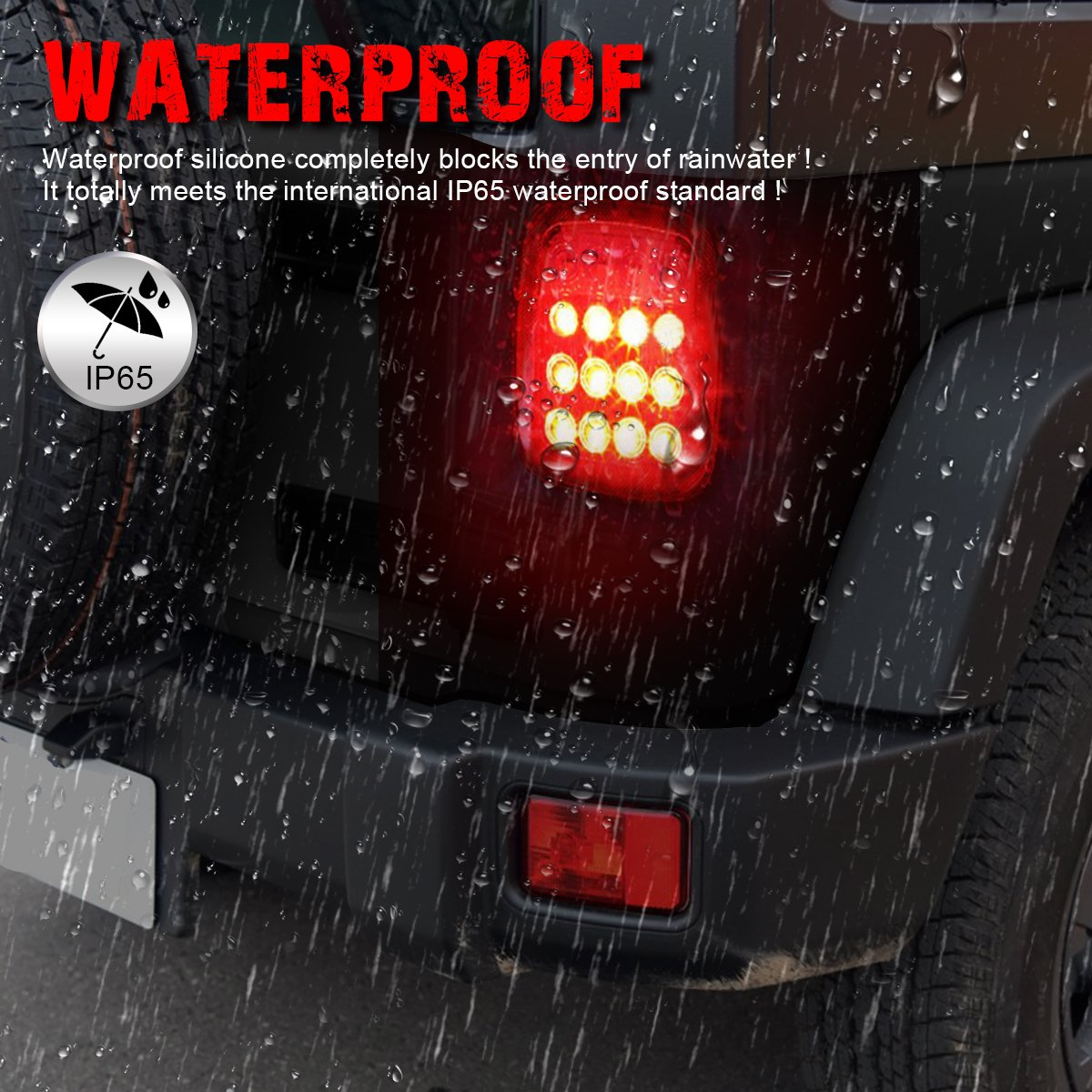 Ambother Universal Led Trailer Tail Lights Brake Turn Signal Reverse Rampage Tailgate Light Bar Wire Diagram Running Back Up Stop Rear For Jeep Yj Jk Cj Pickup Truck Van Rv Suv Bus Cargo