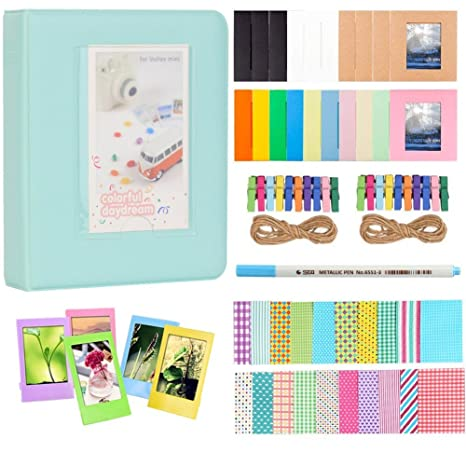 Anter Photo Album Accesorios para Fujifilm Instax Mini Camera, HP Sprocket, Polaroid Zip, Snap, Snap Touch Impresora Films con Film Stickers, Album & ...