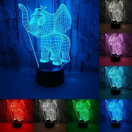 Amazon.com: julitech visual 3d creativa lámpara LED 3 W ...