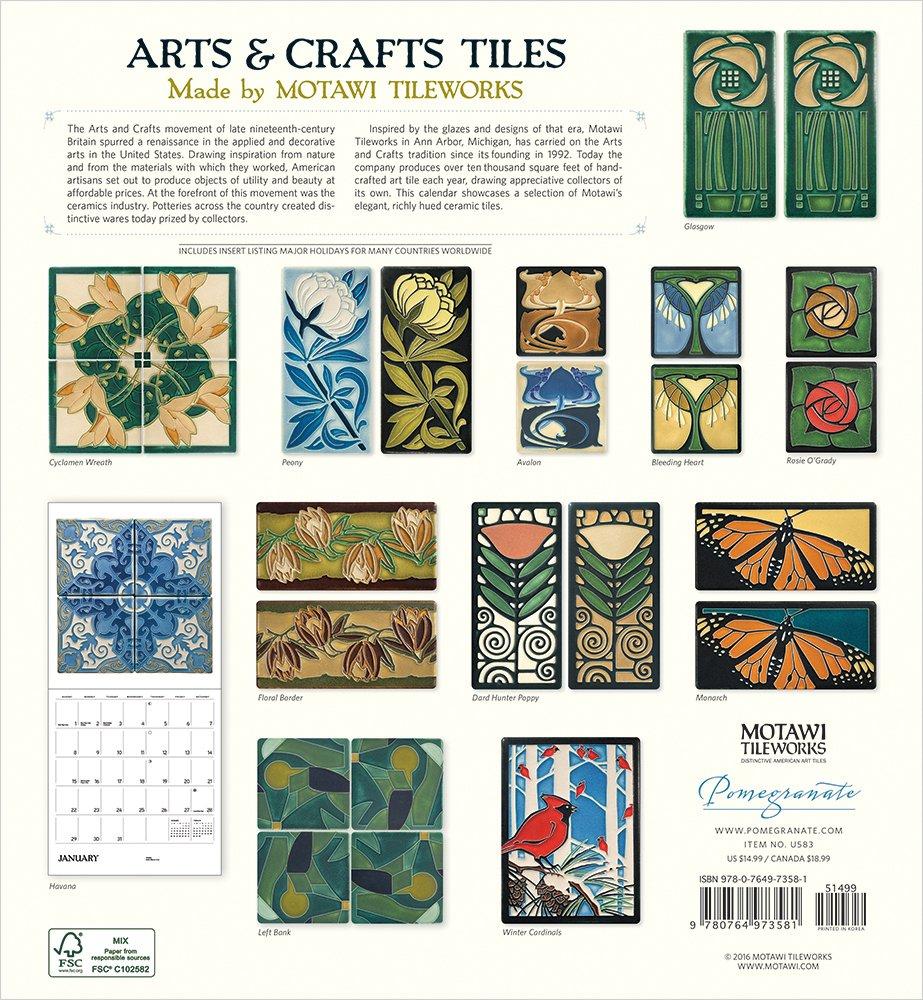 Arts and crafts tiles - 2017 Arts Crafts Tiles Wall Calendar Inc Pomegranate Communications 9780764973581 Amazon Com Books