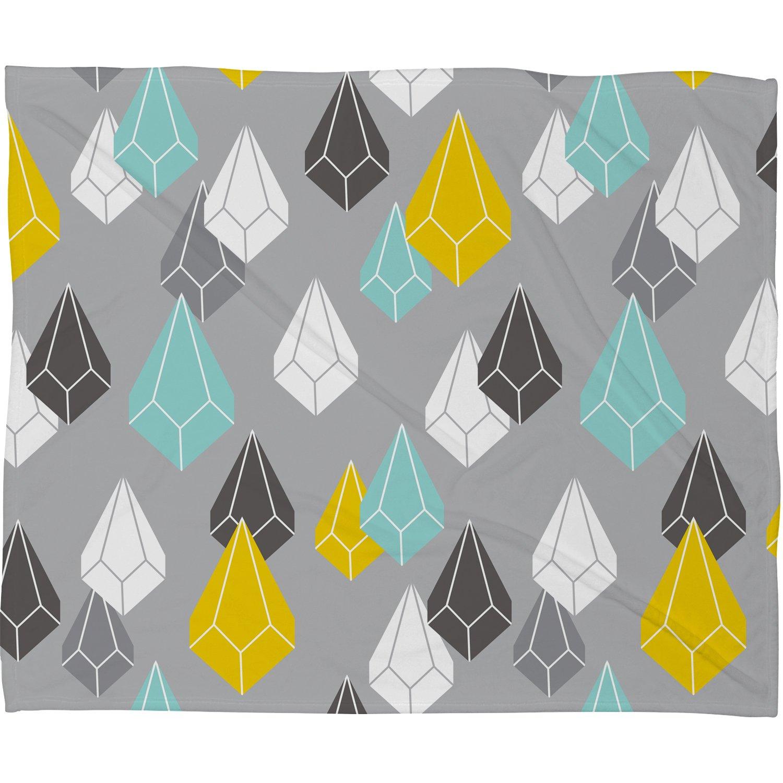 60 x 80 Deny Designs Heather Dutton Raining Gems Whisper Fleece Throw Blanket