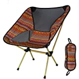 Sea Pioneer Portable Camping Chair Lightweight Folding Chair With Heavy Duty 300 lb Capacity for Hiker, Camp, Beach, Fishing, Outdoor