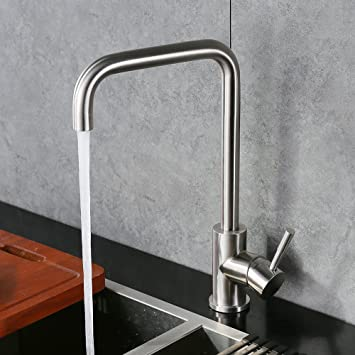 Homelody 360° Drehbar Küchenarmatur Edelstahl Spültischarmatur ...