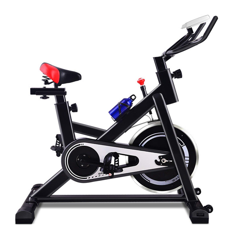 YHSport Indoor Radfahren Heimtrainer, Leise Silent Bike Spin Bike Silent Gym Studio Zyklen Trainingsmaschinen Einstellbare Magnetische Widerstand Schwarz 471314