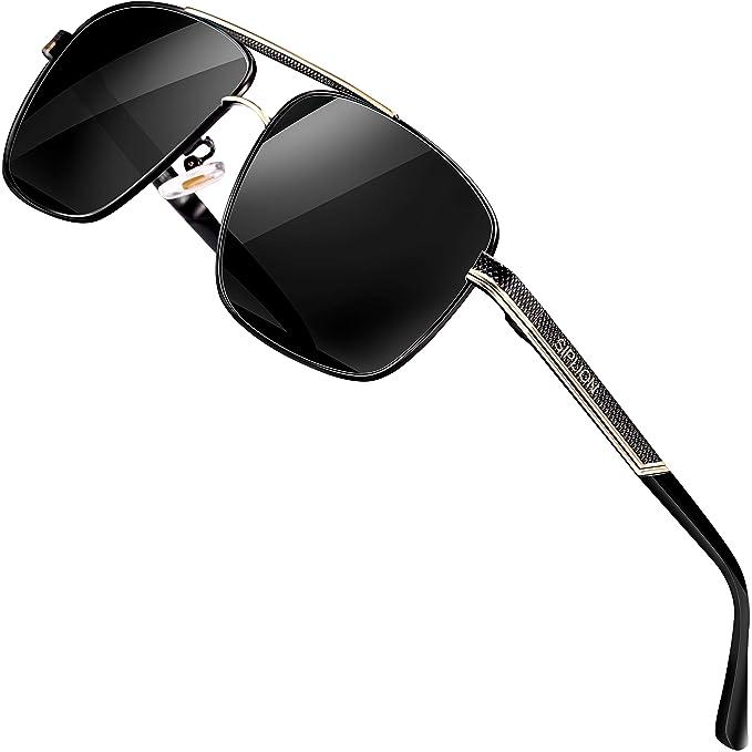 Amazon.com: SIPLION Gafas de sol rectangulares polarizadas ...