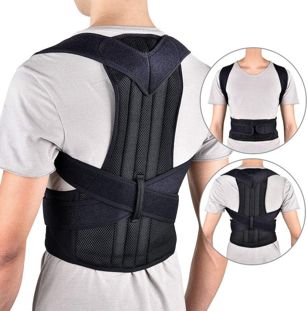 SKTWOE Corrector De Postura Espalda Hombro Ajustable Transpirable Corrección De Postura Faja Deportiva Unisex,XXXL