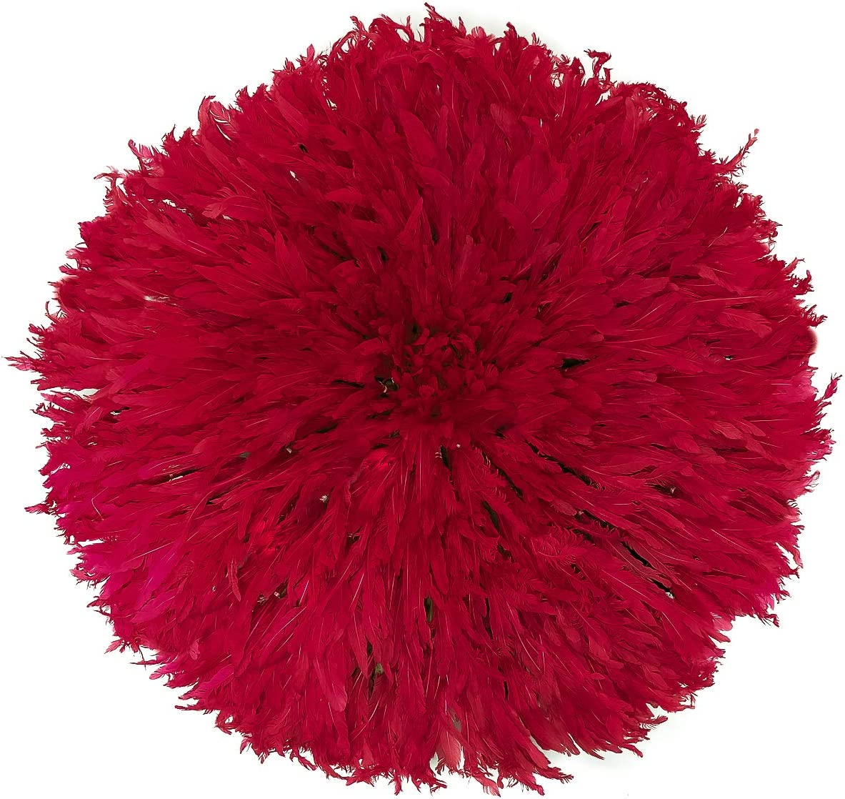Outpost Original Feather Headdress - Juju Hat (Red, Large)